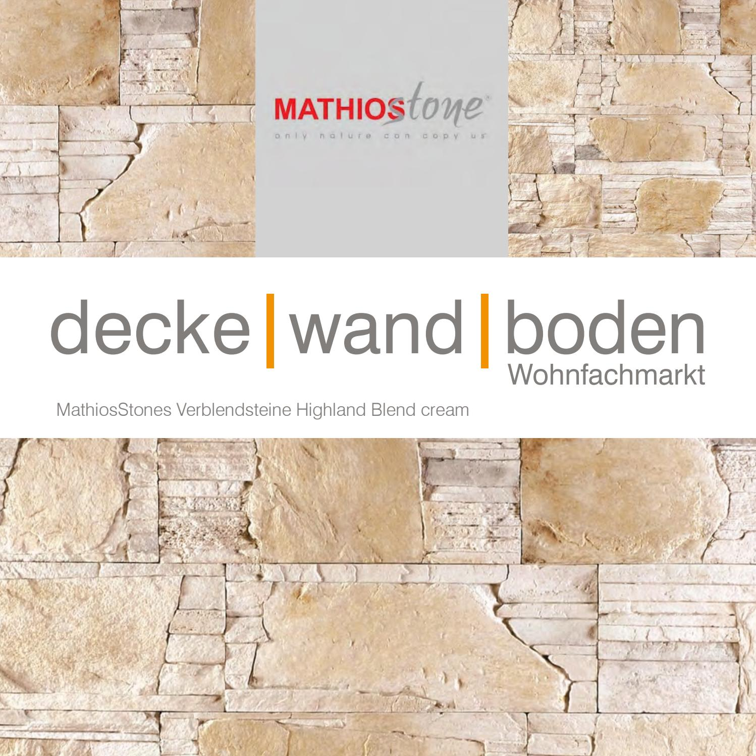 Wandverkleidung Steinoptik Ecke Mathios Stone Highland Blend Cream By Decke Wand Boden Ltd