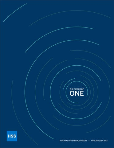 Horizon 2017-2018 HSS 2016 Annual Report The Power of One by