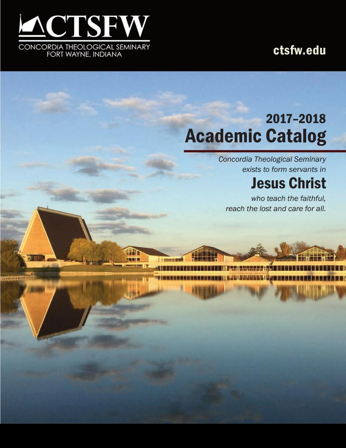Cash Pool Oberursel Academic Catalog 2017 18 By Concordia Theological Seminary Issuu