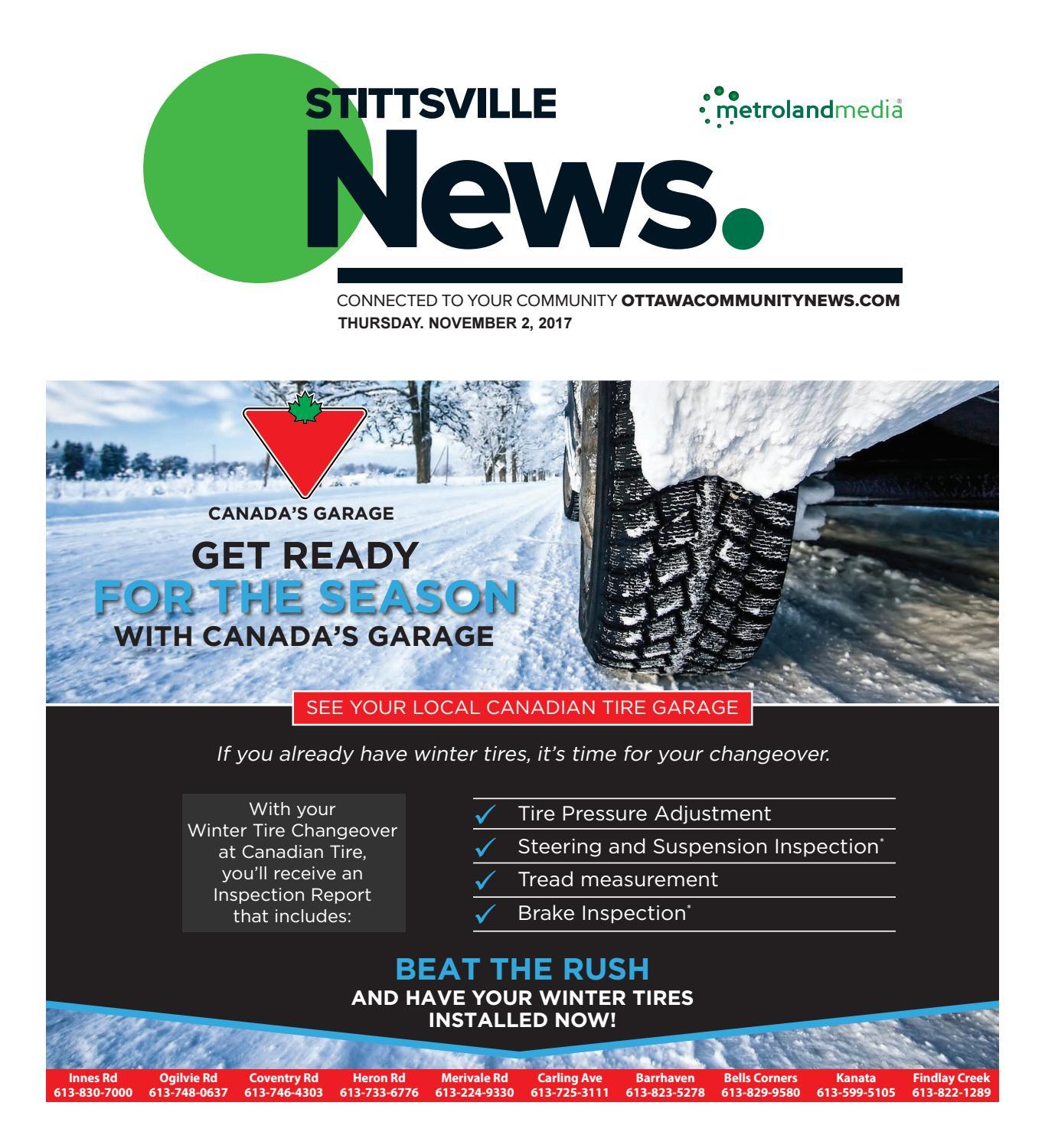 Canadian Tire Merivale Rd Stittsville110217 By Metroland East Stittsville News Issuu