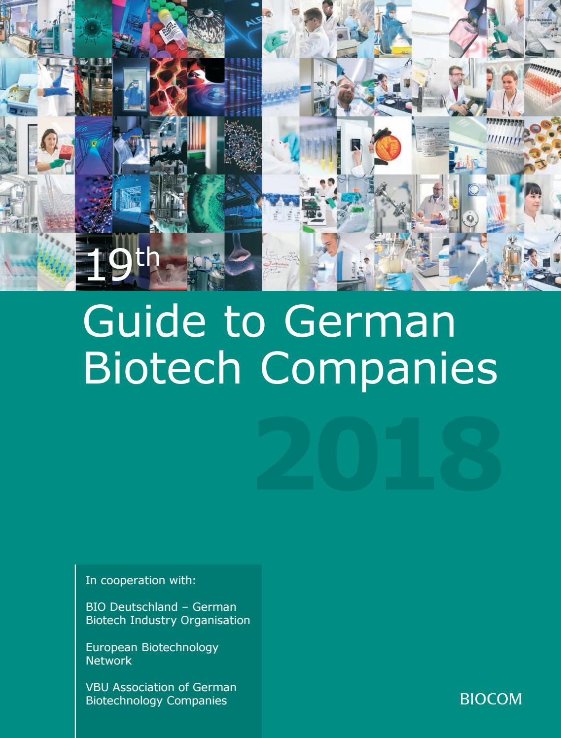 Cash Pool Fellbach 19th Guide To German Biotech Companies 2018 By Biocom Ag Issuu