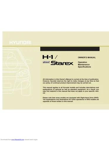 Hyundai Starex H-1 2000~2007 by Tun Wai Win - issuu