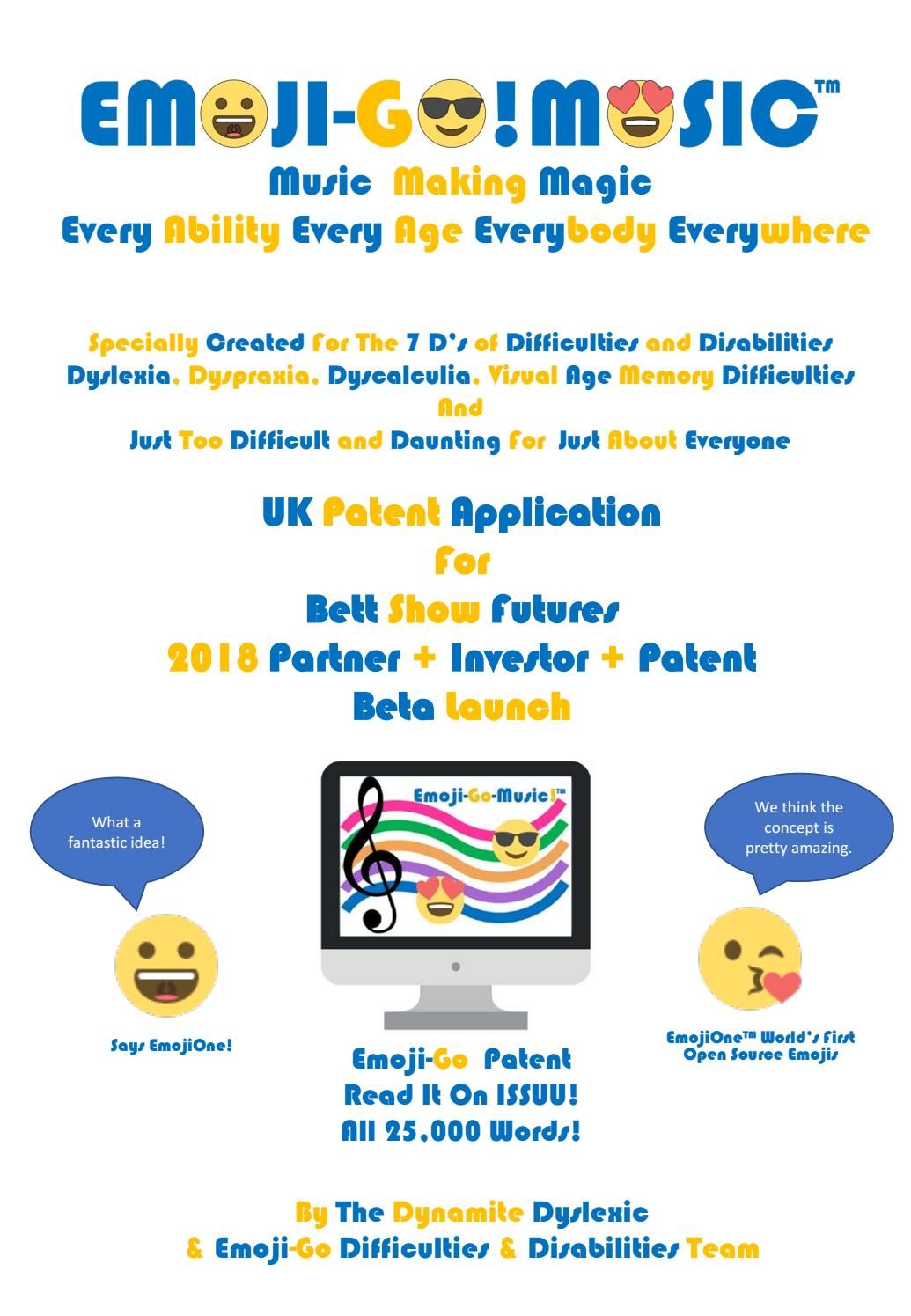 Bett System Bett Show Emoji Go Uk Patent Application Music Notation System By