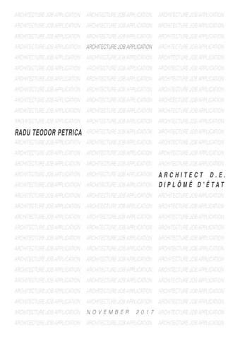 Architecture portfolio by Radu Teodor Petrica - issuu