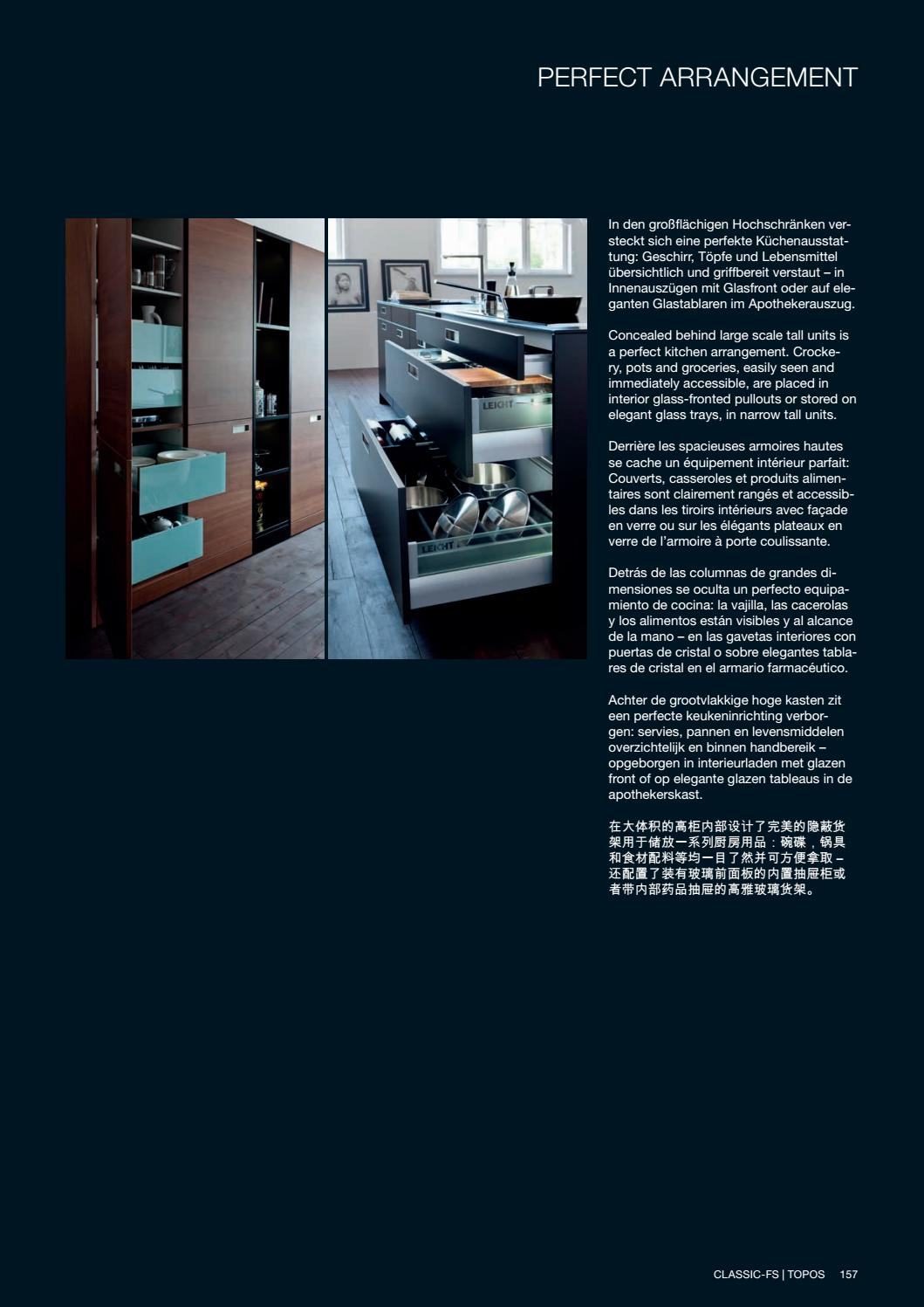 Apothekerskast In Modern Interieur Divine Design Center Leicht Modern Kitchens 17 Catalog By