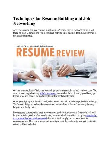 Resume Builder by Resume Builder - issuu