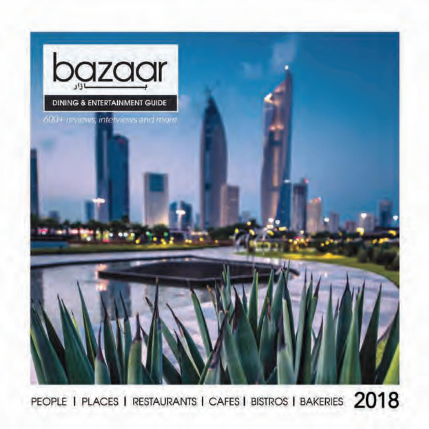 Cucina Restaurant Kuwait Menu Bazaar Dining Entertainment Guide 2018 By Bazaar Magazine