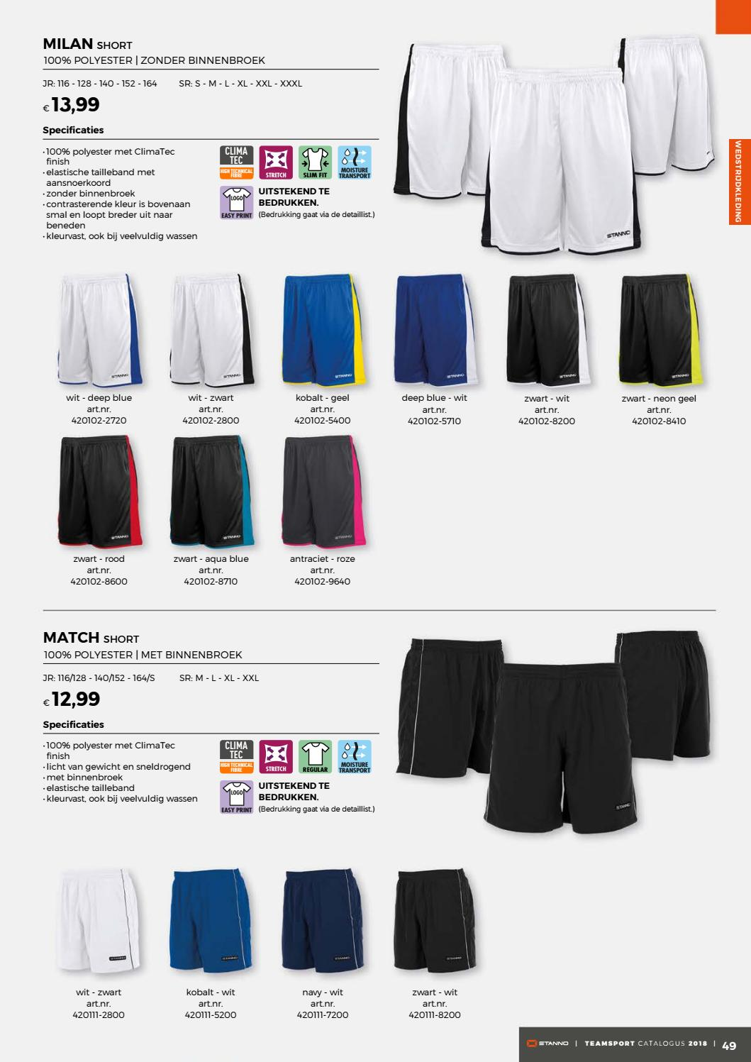 100 Polyester Wassen Stanno Teamsports Catalogue 2018 Nl By Deventrade Bv Issuu