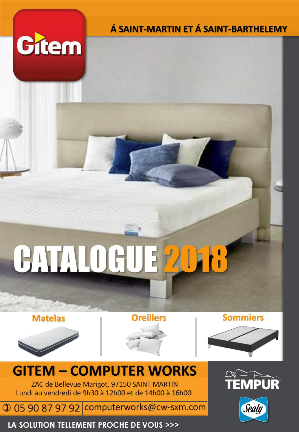 Matelas Tempur Original 21 160x200 Gitem Catalogue Literie 2018 By Gitem Euronics St Martin Issuu