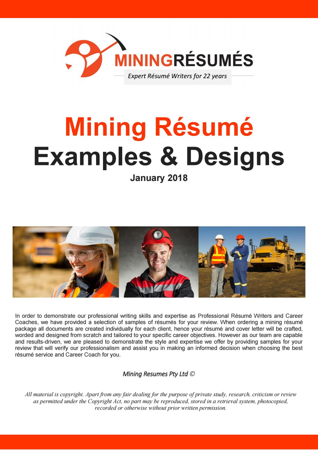 mining resumes sample
