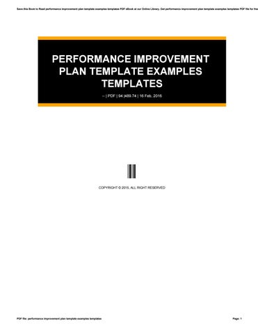 Performance improvement plan template examples templates by - improvement plan template