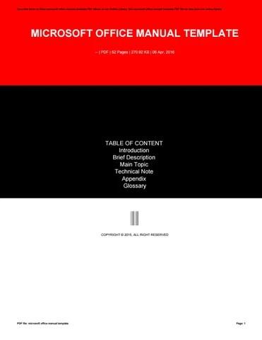 Microsoft office manual template by furusato353 - issuu