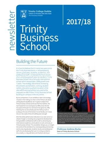 School of Business Newsletter by TCD Alumni - issuu