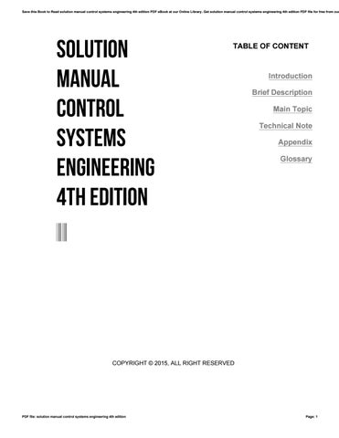 Solution manual control systems engineering 4th edition by 4tb683 - control systems engineering pdf