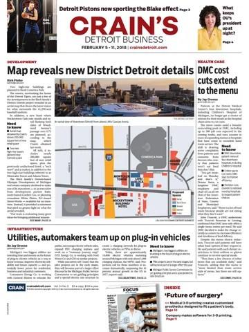 Crain\u0027s Detroit Business, Feb 5, 2018 issue by Crain\u0027s Detroit