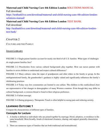 Maternal and child nursing care 4th edition london solutions manual
