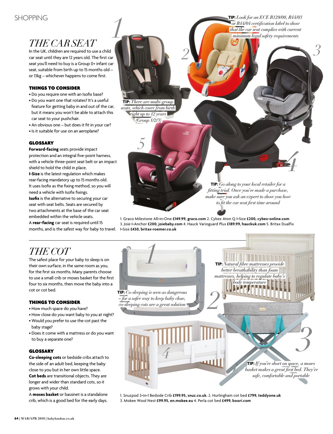 Graco Milestone Car Seat Isofix Baby London March April 2018 By The Chelsea Magazine Company
