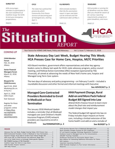 Feb 12, 2018 Edition of The Situation Report by Home Care