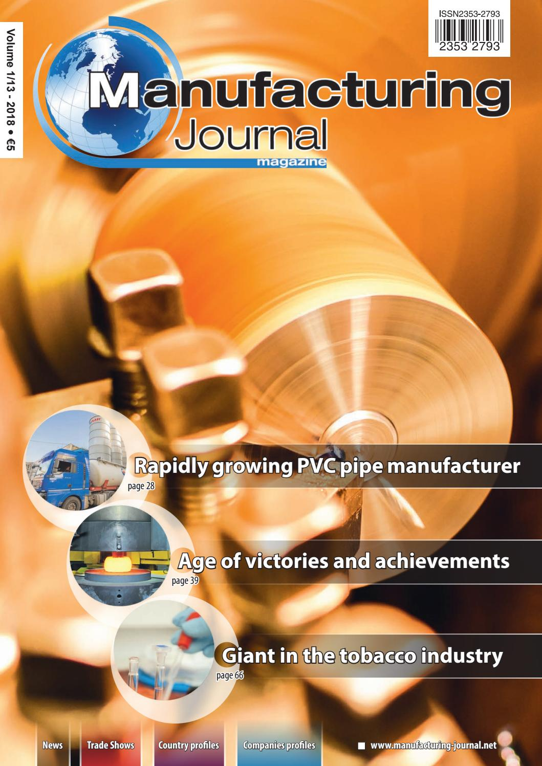 Advanced Solutions For Growing Companies Mmk Systems Manufacturing Journal 1 13 2018