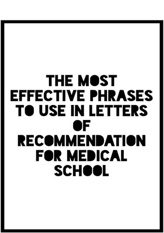 The Most Effective Phrases to Use in Letters of Recommendation for