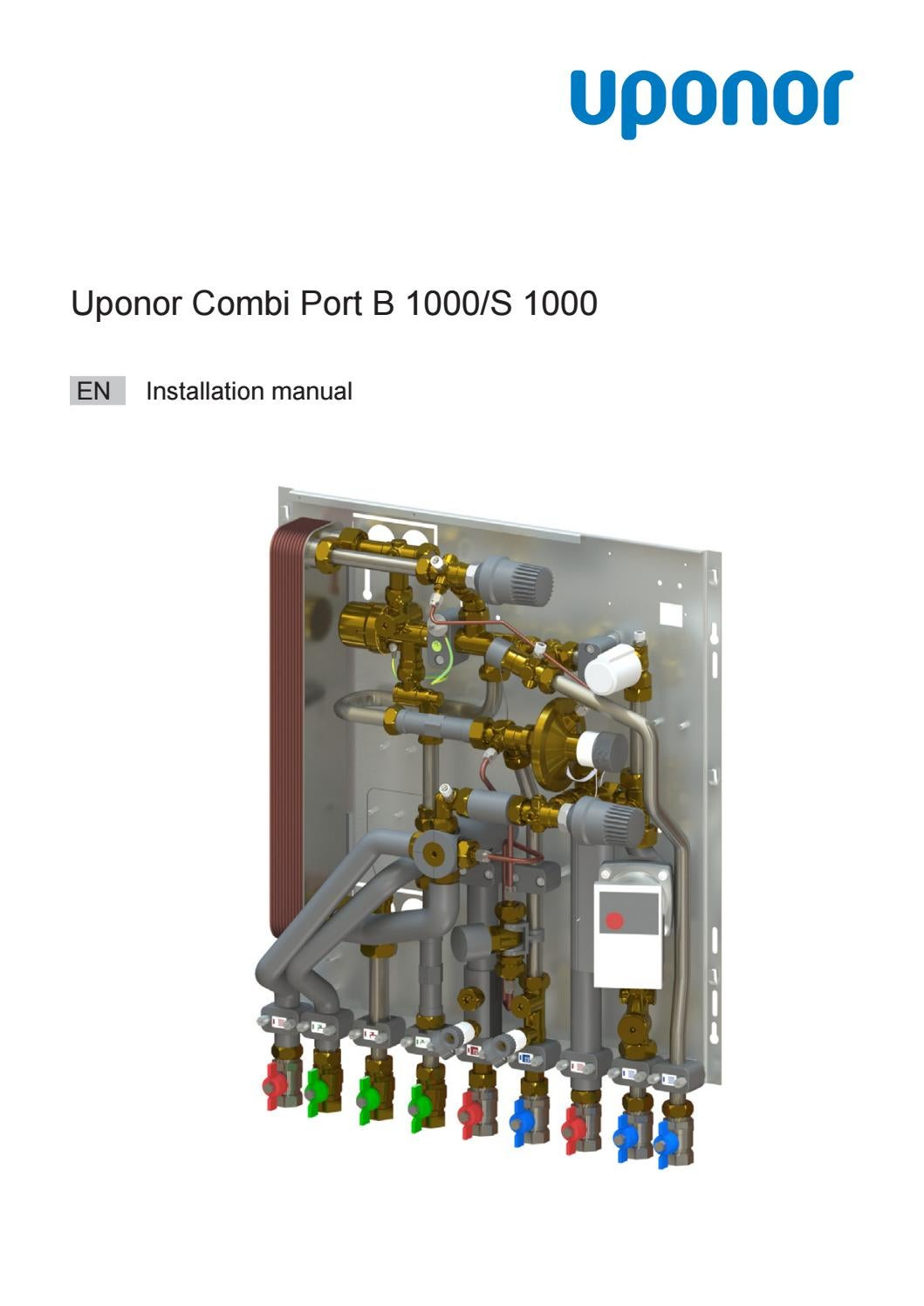 Estrich Legen Uponor Installation Manual Combi Port B1000 Up To S1000 By Uponor