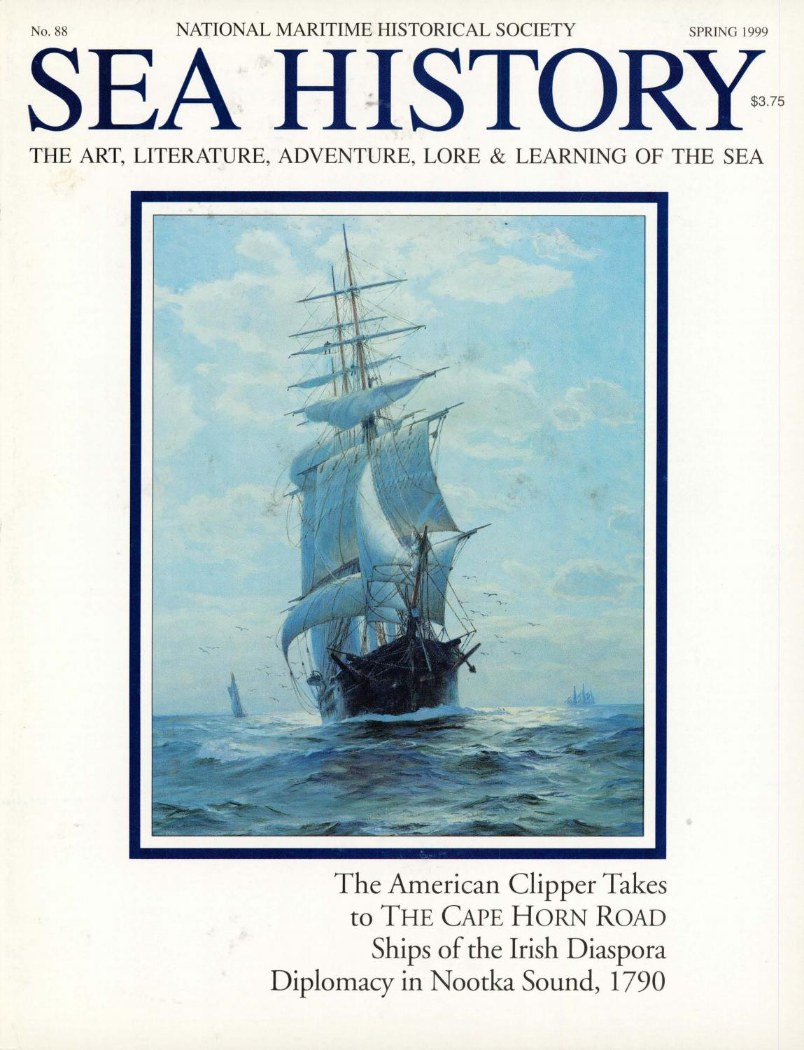 Rosali Bremen Sea History 088 Spring 1999 By National Maritime Historical