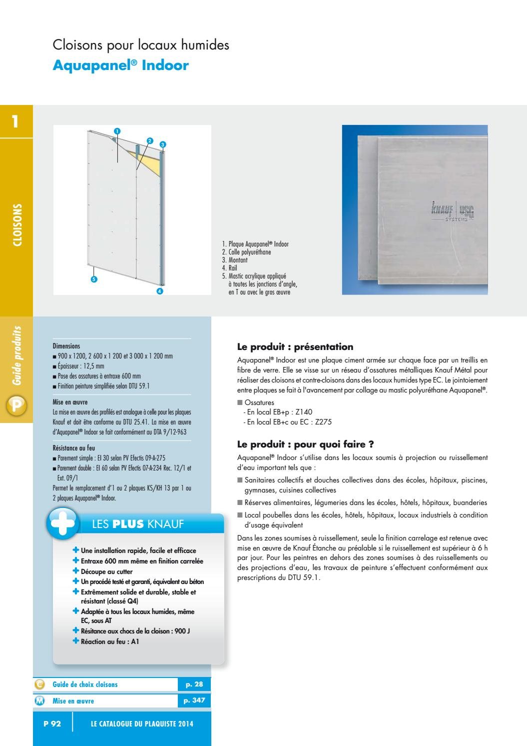 Type De Cloison Knauf 2014 Plaquiste Aquapanel Indoor