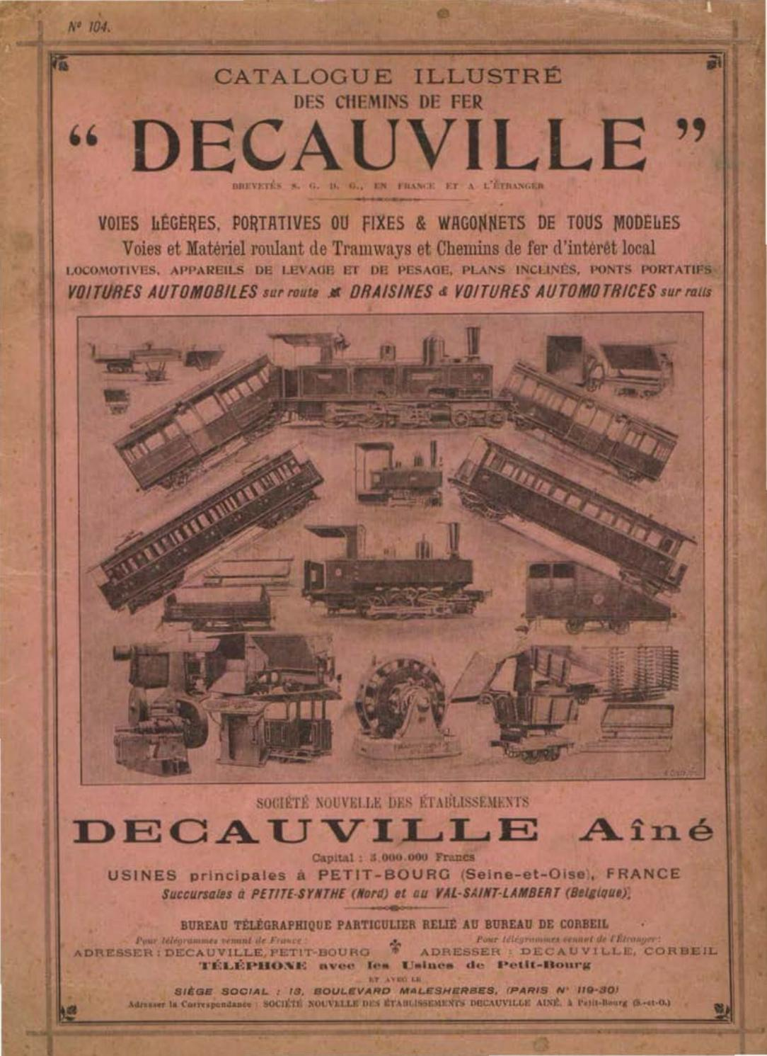 Ns Icr Interieur Decauville 1897 Catalogue By Tom Bell Issuu