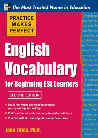 English vocabulary for beginning esl learners by ruanvanstaal - issuu