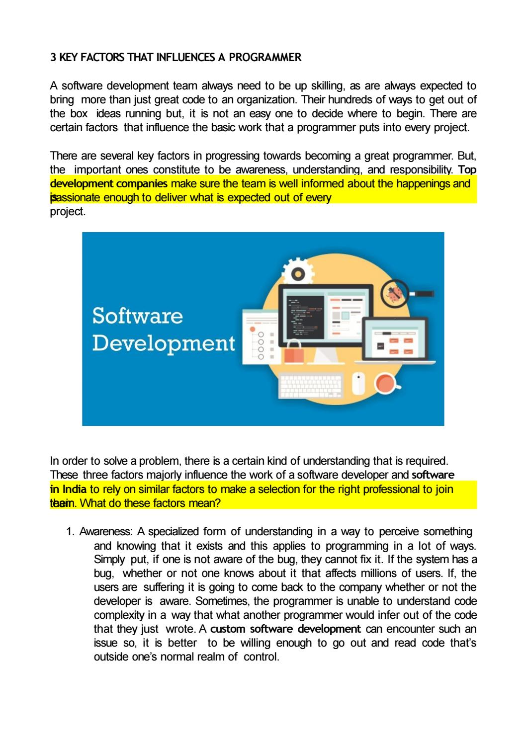 Software Developer Companies In Custom Software Development Company In India By Depti Gaur Issuu