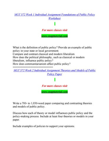 Mgt 572 by Saracitastephiekat63 - issuu - public policy examples