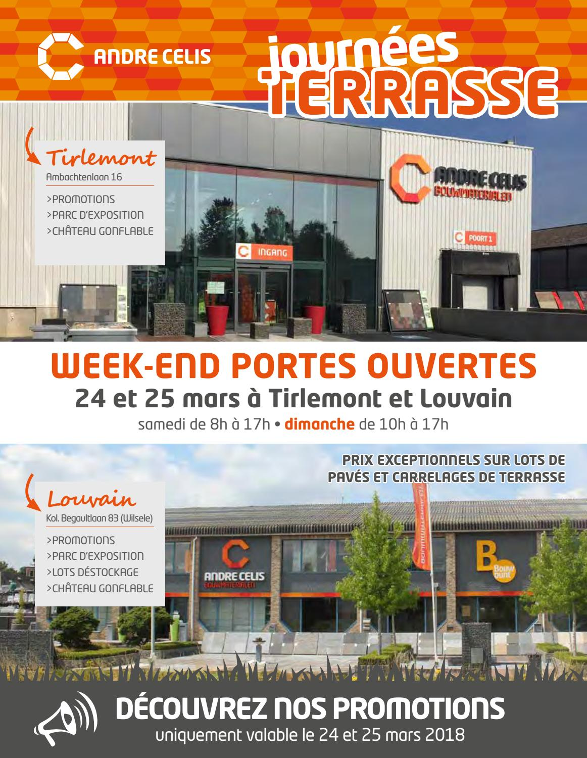 Destockage Dalle Terrasse André Celis Journées Terrasse 2018 By André Celis Issuu