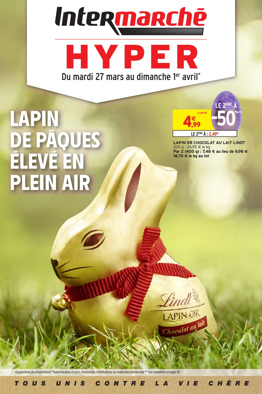 Chauffeuse Intermarché Catalogue Intermarché Hyper Du 27 Mars Au 1er Avril 2018