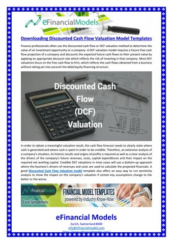 Downloading discounted cash flow valuation model templates by