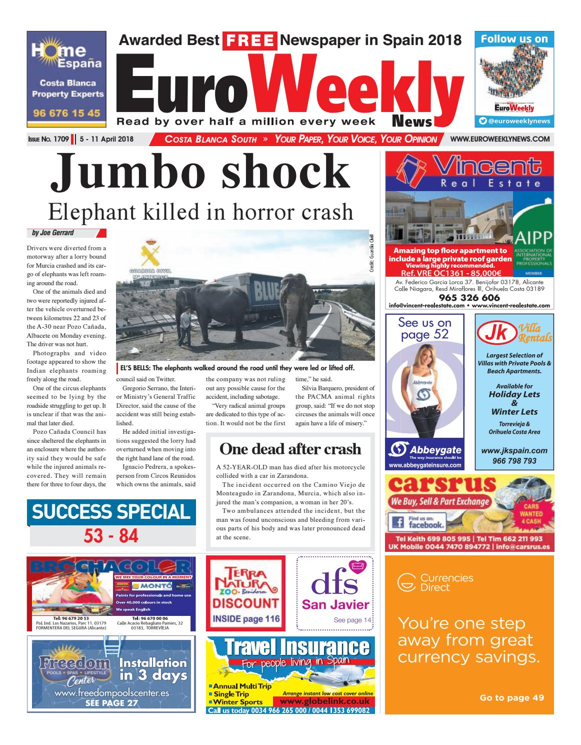 Sofaland Spain Euro Weekly News Costa Blanca South 5 March 11 April 2018 Issue 1709