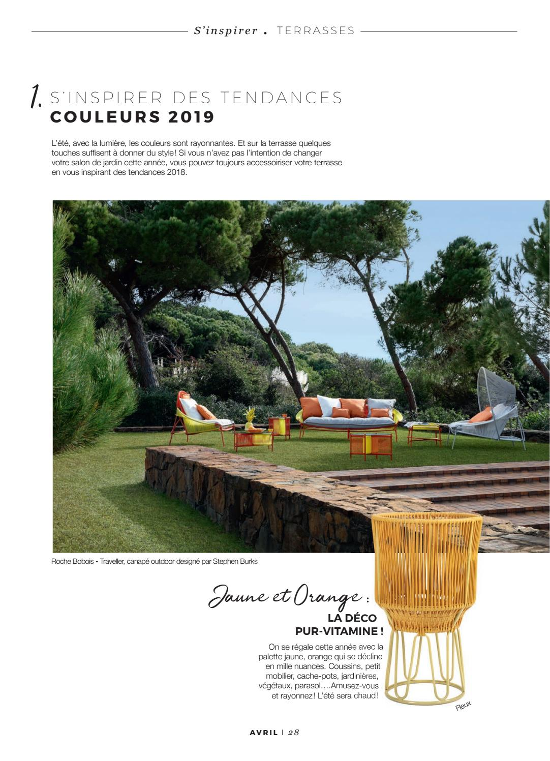 Déco Terrasse Jaune | Terrasse En Carrelage Imitation Parquet Idees ...