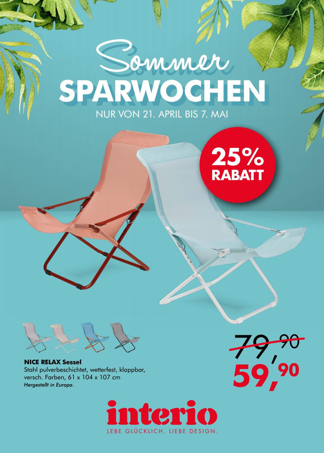Bankgestell Metall Sommersparwochen By Interio Issuu