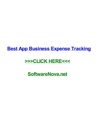 Best app business expense tracking by amandawaecf - issuu - business expense tracking app