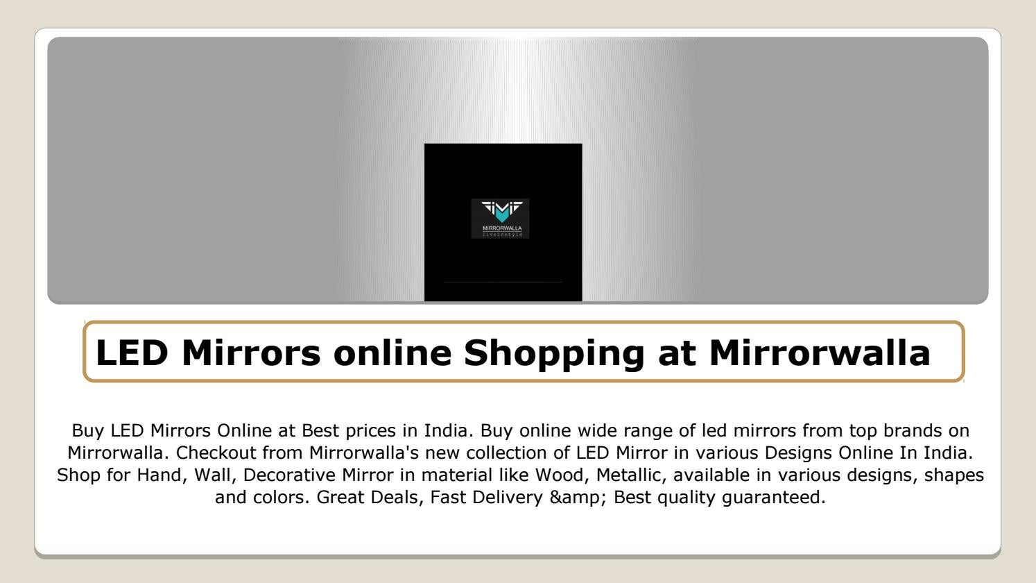 Led Online Shop Led Mirrors Online Shopping At Mirrorwalla
