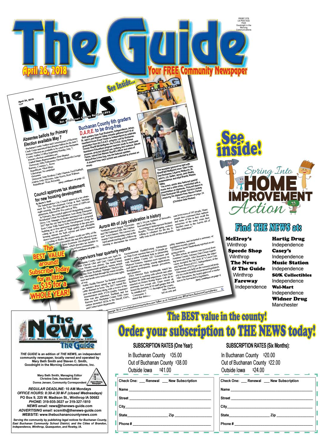 Store Banne Homey The Guide 4 26 2018 By The News Buchanan County Review Issuu