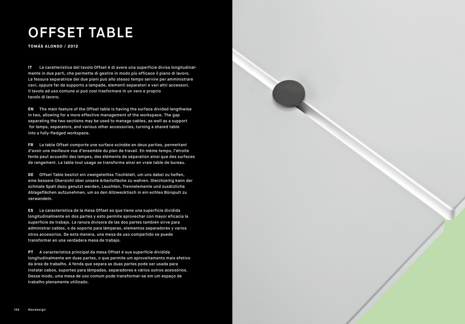 Transformer Un Plan De Travail En Table Maxdesign Offset Table By P4design Issuu