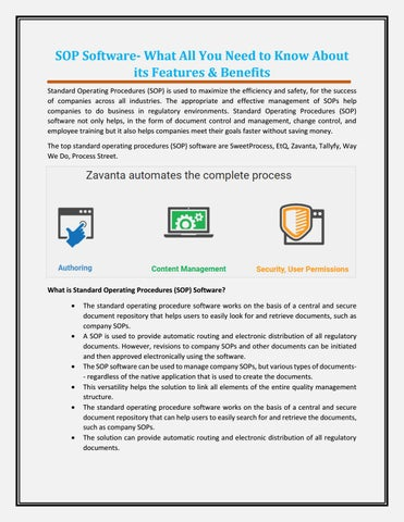 SOP Software- What All You Need to Know About its Features - why sop is used
