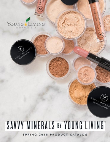 2018 Savvy Minerals by Young Living Product Catalog by Young Living