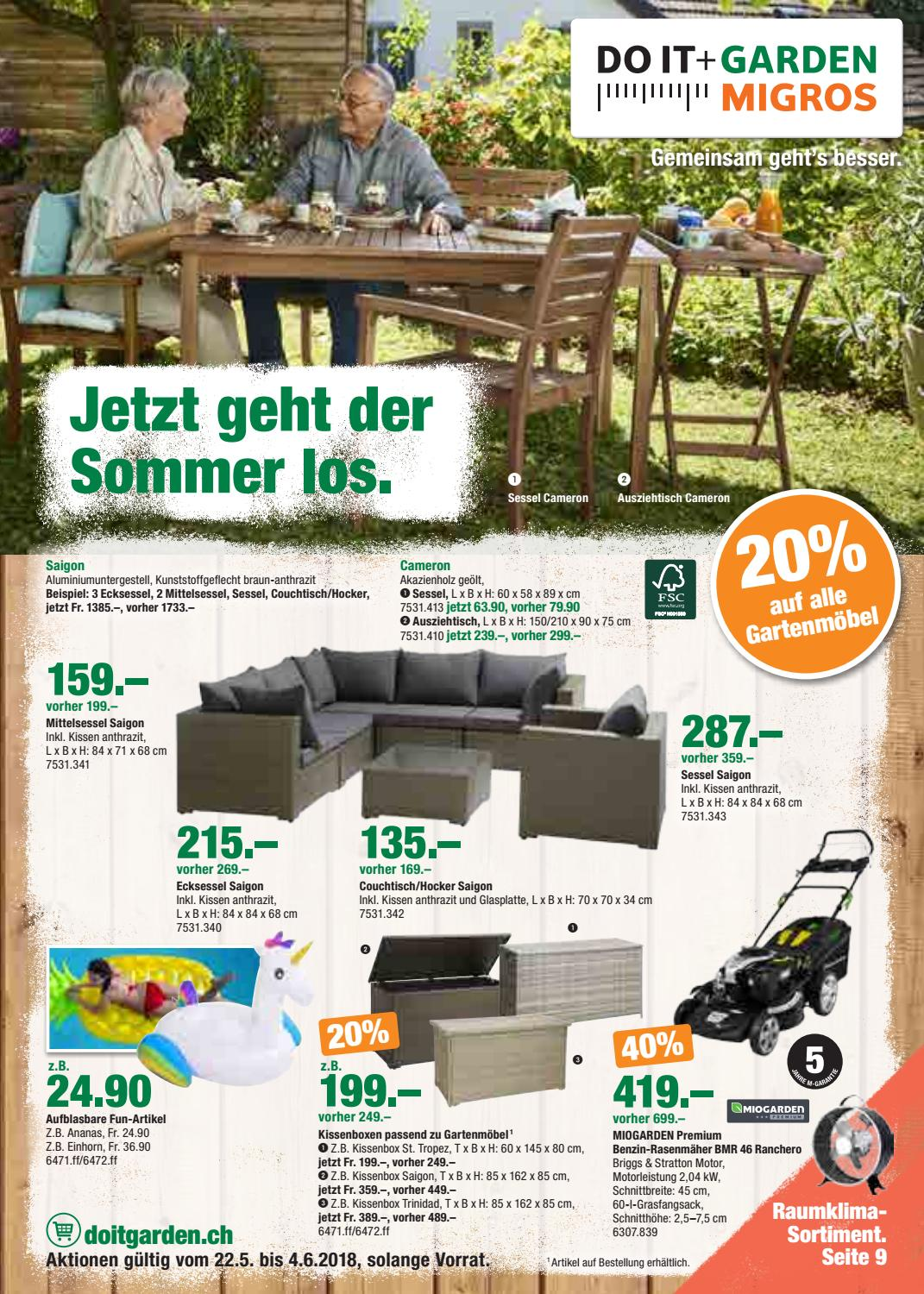 Couchtisch 100x120 Aktionsflyer Do It Garden Kw21 De By Migros Issuu
