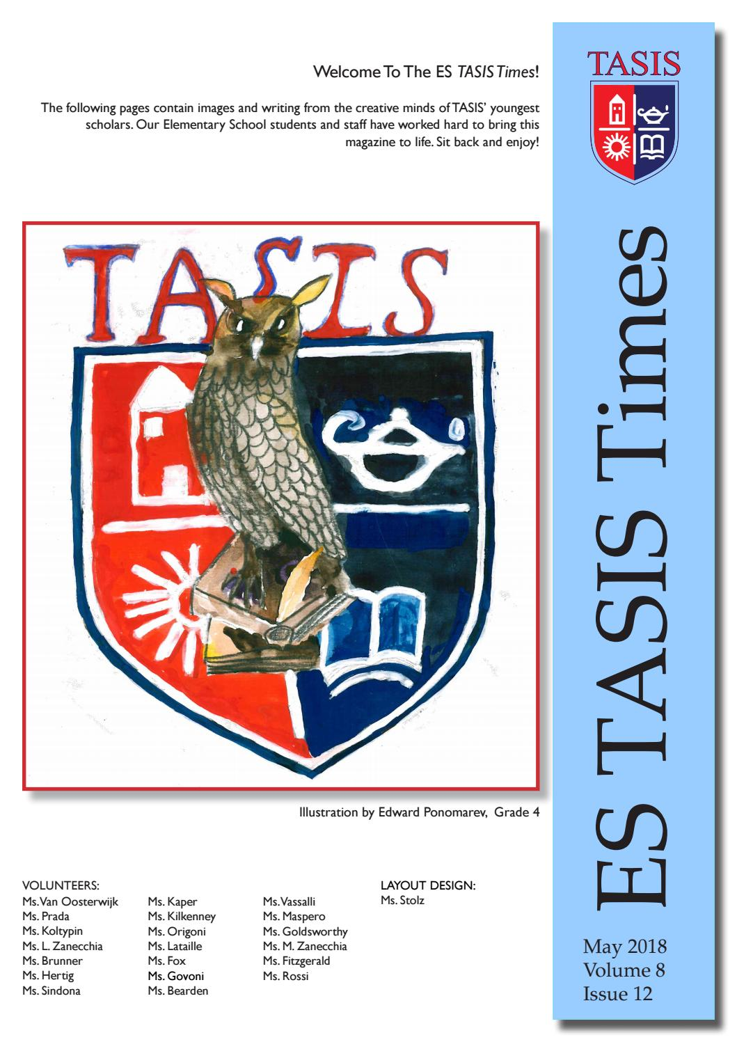 Ce L Ho Sempre Bagnata Es Tasis Times 2018 By The American School In Switzerland Issuu