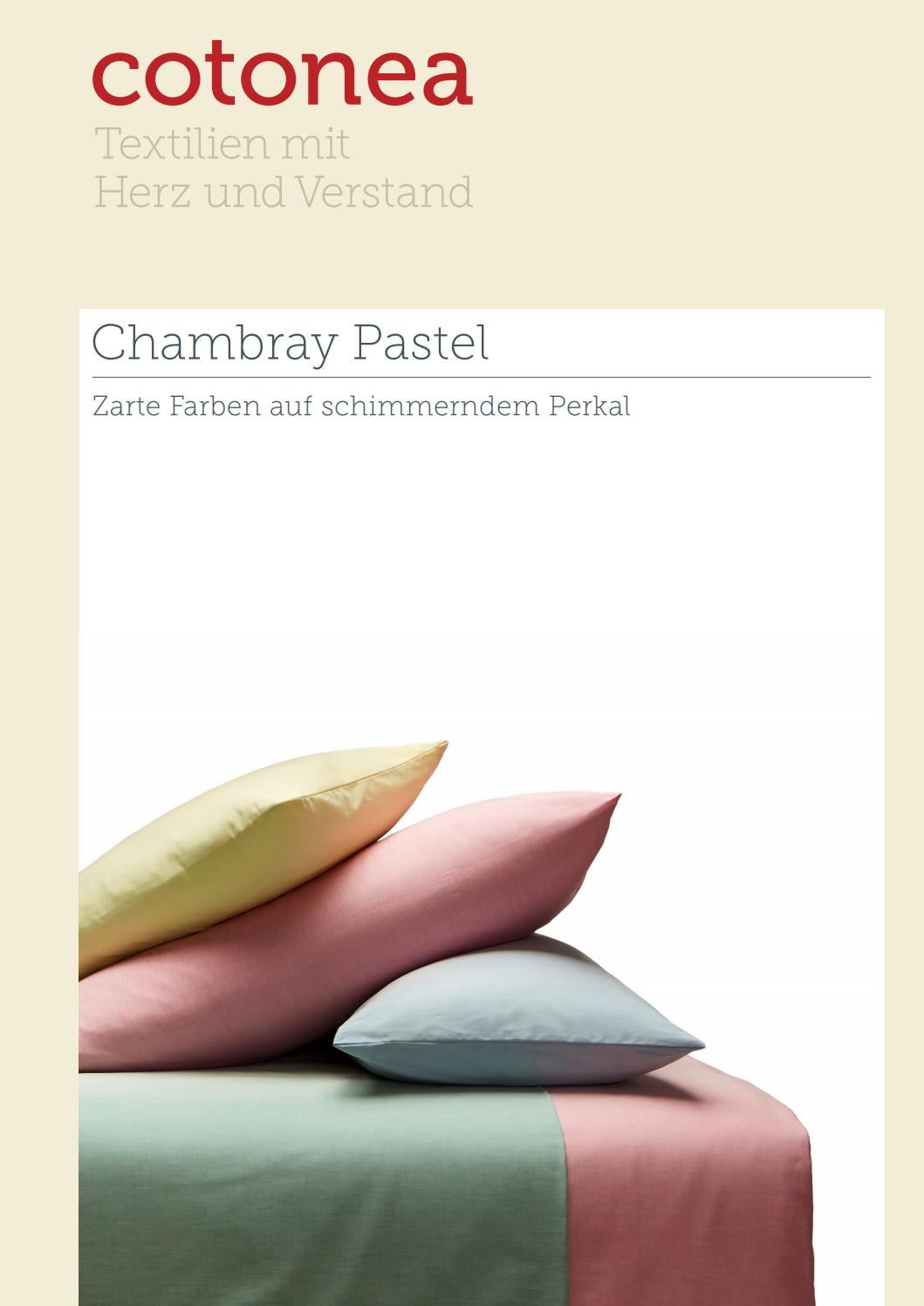 Chambray Bettwäsche Produktblatt Bettwaesche Chambray Pastel By Cotonea Issuu