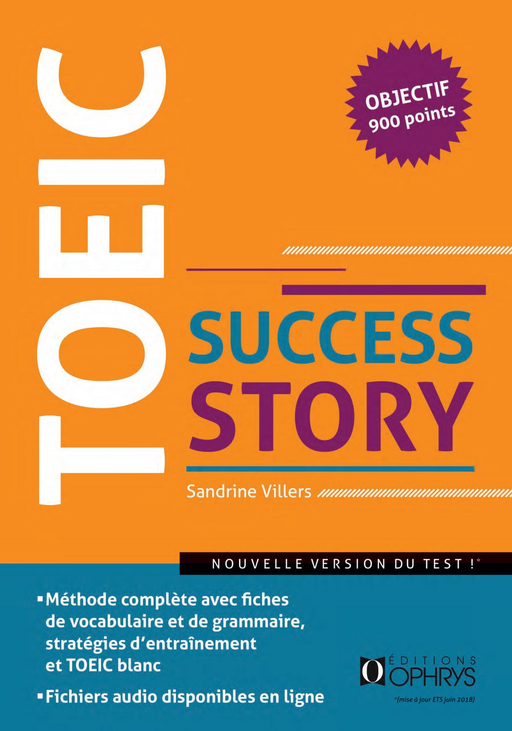 Grille Niveau Toeic Toeic Success Story Objectif 900 Points By To Groupe Issuu