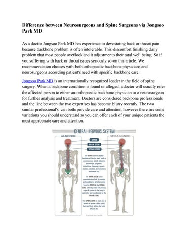 Get the Difference between neurosurgeons and spine surgeons via