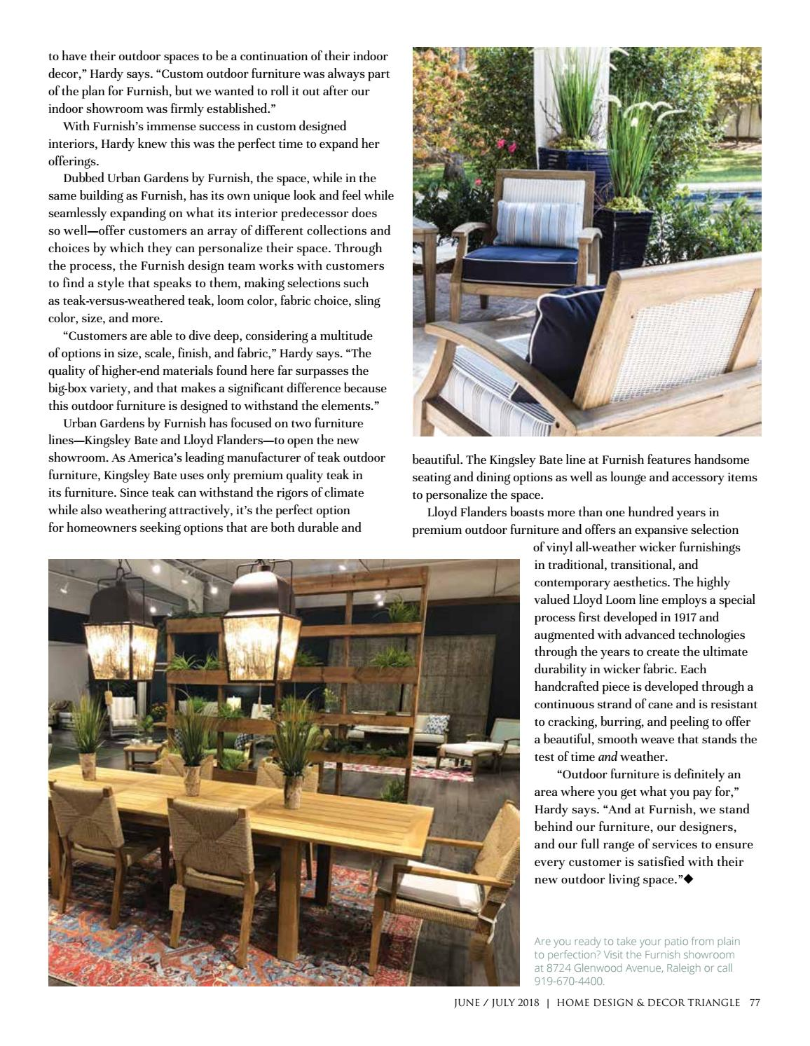 The Furnish Triangle June July 2018 By Home Design Decor Magazine Issuu