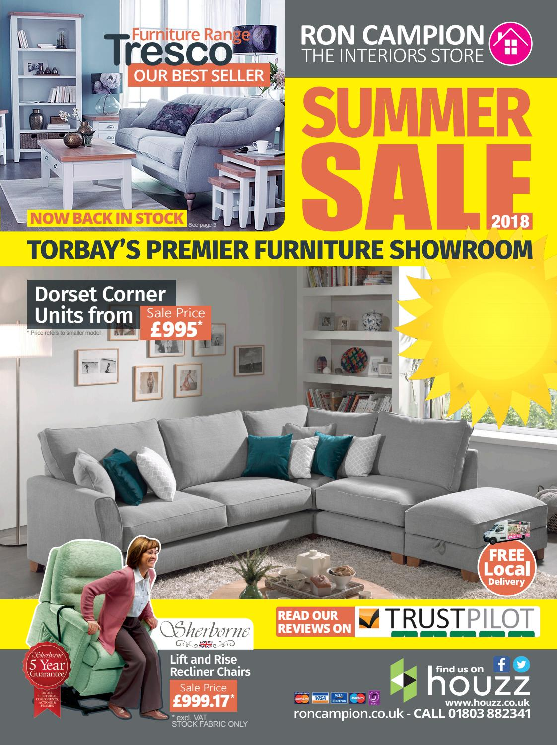 Ron Campion Summer Sale Brochure 2018 By Ron Campion Furnishers Issuu